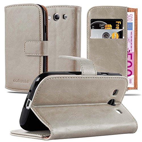 Cadorabo Custodia Libro per Samsung Galaxy S3 / S3 NEO in MARRONE CAPPUCCINO - con Vani di Carte, Funzione Stand e Chiusura Magnetica - Portafoglio Cover Case Wallet Book Etui Protezione