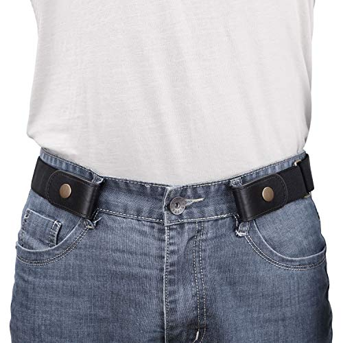 No Buckle Show Belt for Men Buckle Free Stretch Belt for Jeans Pants 1.38 Inches Wide Father's Day...