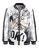 GULLIVER Sweatshirt Mädchen Sweatjacke Kinder Jacke Weiss Silber mit Zip 2-7 Jahre 98-128 cm