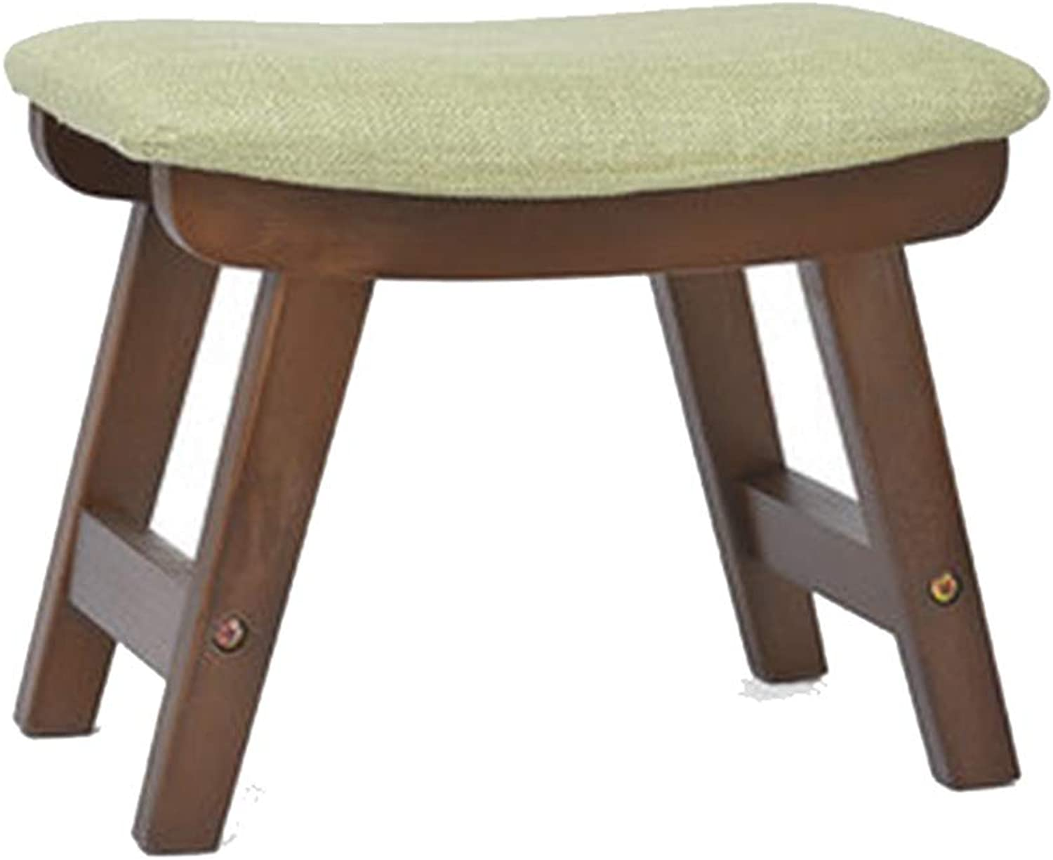 Stool Coffee Table Stool Solid Wood Fabric Stool Cloth Cover Removable Kitchen Bedroom Living Room,E,38.5  24.5  29CM