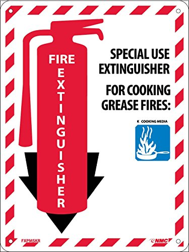 NMC FXPMSKR Special USE Extinguisher Sign - 9 in. x 12 in. Rigid Plastic Fire Extinguisher Safety Sign with Graphic