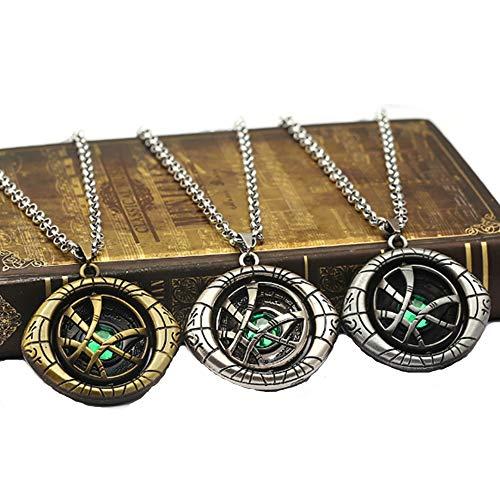 Auge von Agamotto Pendent Halskette Dr.Strange Halsketten 3 Stück Arzt strange Steve Cosplay Mode Mode Auto Tasche Geschenk