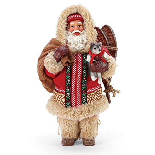 Department 56 6005271 Possible Dreams Santa and his Pets Arctic Gifts Figurine, 10.5 Inch, Multicolor