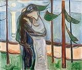 Kunstdruck/Poster: Edvard Munch Kuss am Strand -