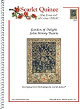 Scarlet Quince DEA002 Garden of Delight by John Henry Dearle Counted Cross Stitch Chart, Regular Size Symbols