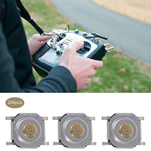 Cuque Interruptor de botón táctil, microinterruptor SMD Fuerte para Juguetes para Instrumentos Digitales