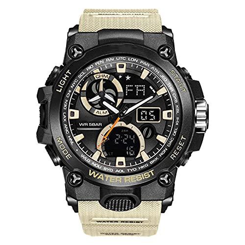 WTYU Reloj De Pulsera para Hombre,Moda Puntero Digital Luminoso Reloj Deportivo a Prueba De Agua Relojes Militares De Muñeca para Hombres con La Parte Posterior LED Ligh B