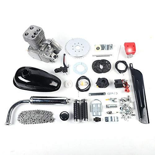 Aohuada Kit de motor de bicicleta de 100 cc, motor de gasolina de 2 tiempos, pedal, ciclo, motor de gasolina, kit de 48 km/h, para bicicletas motorizadas de 26 a 28 pulgadas