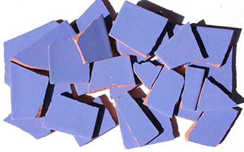 900g Bruchmosaik, Mosaikfliesen aus handgefertigten Fliesen - blaugrau