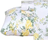 Ruvanti 100% Cotton 3 Pcs Flannel Sheets Twin - Deep Pocket, Warm, Floral Print, Super Soft & Breathable Twin Size Flannel Kids Bedding Sheets Set Include Flat Sheet, Fitted Sheet 1 Pillow Case