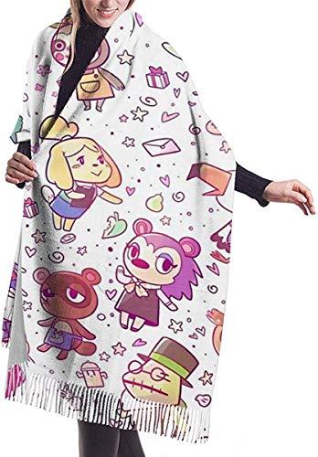 Wickeldecke Schal, Animal Crossing Pattern Women Soft Cashmere Scarf Large Pashminas Shawl Blanket 77