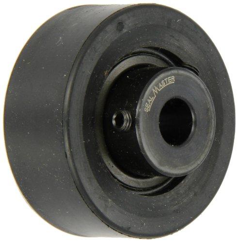 Sealmaster SRC-12 Ball Bearing Cartridge Unit, Setscrew Locking Collar, Felt Seals, Rubber Housing, Inch, 3/4