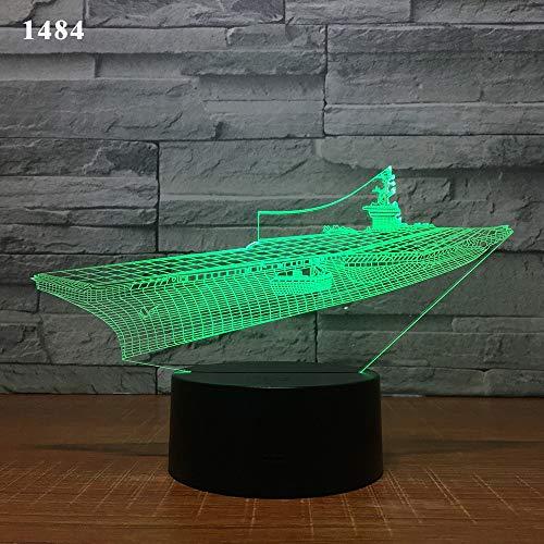 Segelboot Segelschiff Yacht U-Boot Design 3D Tischlampe Kinder Spielzeug Geschenk Nacht Acryl Illusion Farbe Kinder Freunde Geschenk Spielzeug 1pc