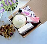 Self Care Package Spa Gift Set, with Deluxe Aromatherapy Bath Bombs, Travel Soap and Lip Balm, Special, Unique, Relaxing and Gift for Wife, Mom, Sister, Aunt and Friend, Grandma