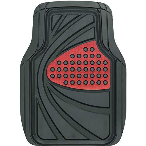 ボンフォーム カーマット デザインラバー 軽/普通車 フロント1枚 防水 48x65cm レッド 6449-01RE