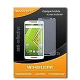 SWIDO Schutzfolie für Motorola Moto X Play [2 Stück] Anti-Reflex MATT Entspiegelnd, Hoher Festigkeitgrad, Schutz vor Kratzer/Bildschirmschutz, Bildschirmschutzfolie, Panzerglas-Folie