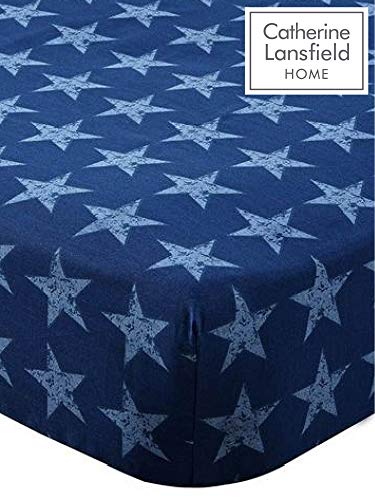 Catherine Lansfield Stars and Stripes Fitted Sheet hoeslaken, Amerikaanse vlaggendesign, voor tweepersoonsbed