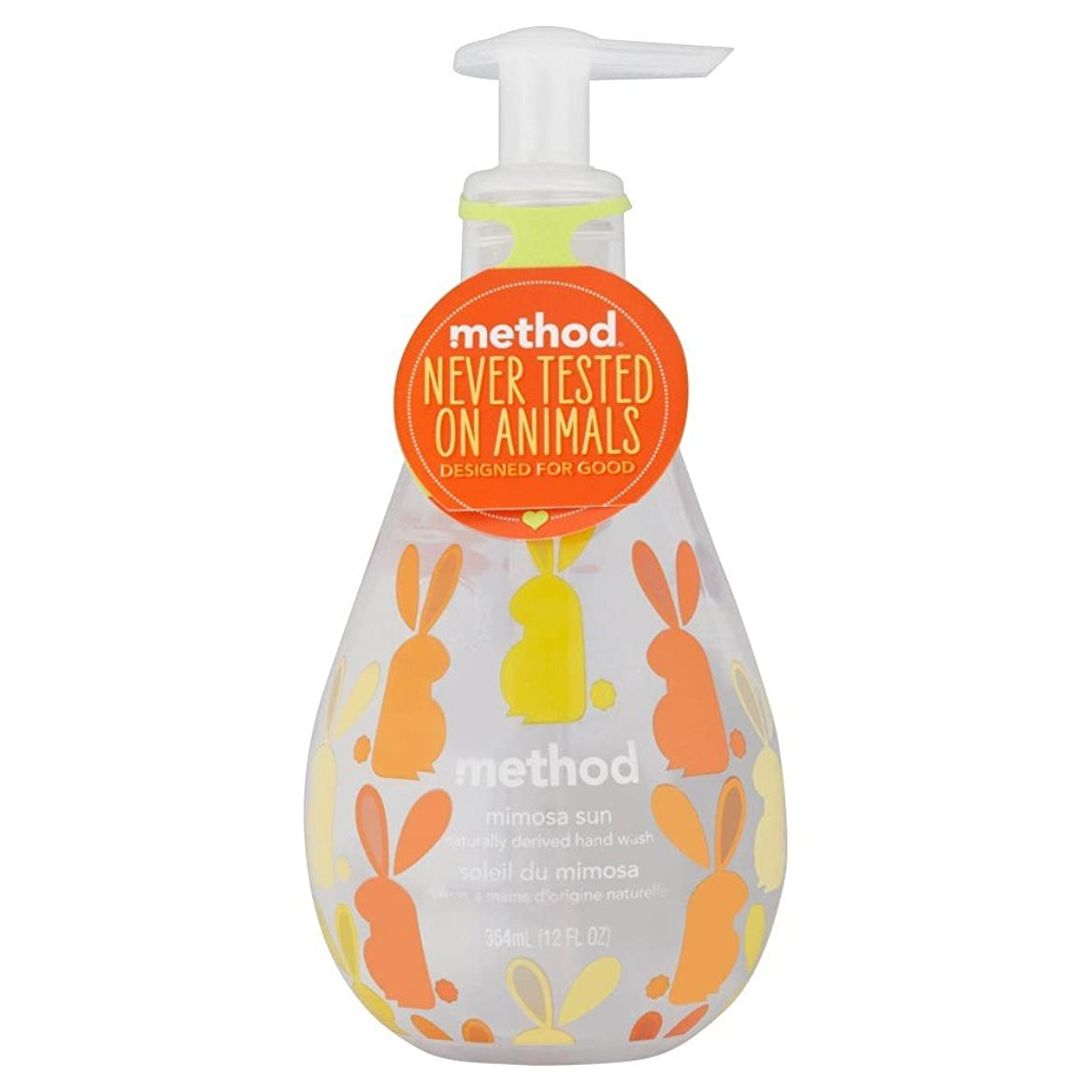 恨み困惑したパイプラインMethod Hand Wash - Mimosa Sun (354ml) メソッドハンドウォッシュ - ミモザ日( 354ミリリットル) [並行輸入品]