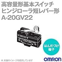 オムロン(OMRON) A-20GV22 高容量形基本スイッチ (ヒンジローラ短レバー形) (はんだづけ端子) NN