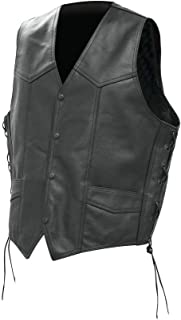 Rocky Mountain Hides Solid Genuine Buffalo Leather Vest- 2x