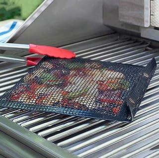 SIMPLISIM Grille Filet de cuisson Barbecue Réutilisable, Tapis en maille antiadhésive BBQ, Tapis grillagé de Cuisson Barbe...