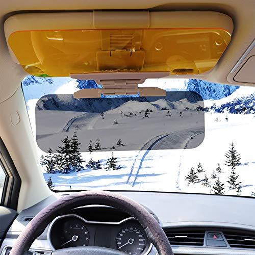 Huakan Car Sun Visor HD Automobile Windshield Visor for Sunlight Snow Anti-Glare UV-Filtering