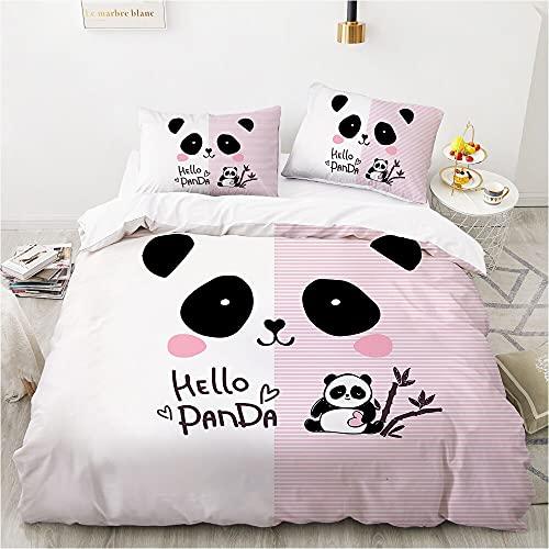 NRATW Dibujos Animados Panda Ropa de Cama para niños para niños Baby Girls Duvet CUBIERTE Conjunto DE Cubierta DE ALIMENTACIÓN Ropa de Almohada Cubierta de Colcha 135 140x200 Rabbit