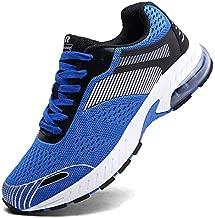 XIDISO Running Shoes Mens Women Air Trail Mesh Sneakers Athletic Walking Cross Training Tennis Sports Shoe for Men Blue