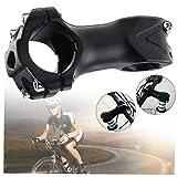 OMMO LEBEINDR MTB Stem aleación de Aluminio del vástago Elevador Manillar de la Bicicleta del vástago de Carretera de montaña y Bicicletas de ciclocross Aventura (Negro)