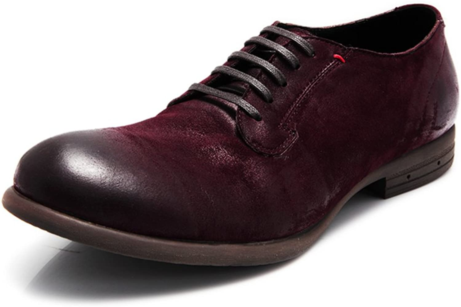 Business-casual shoes fashion tip of England  men's minimalist retro shoe flashes