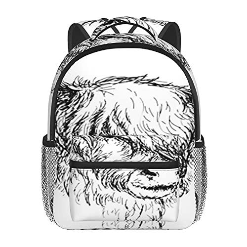 RTUBNSD Kinderrucksack Highland Ländlich behaart, Kindergarten Vorschul Tasche Schultasche für Kleinkinder Mädchen Jungen