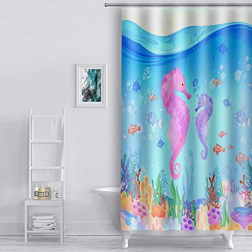 Hippocampus decoration Waterproof Fabric Shower Curtain Bathroom set home decor
