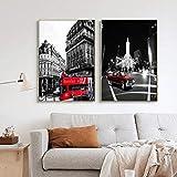 WWZJH Europäische Architektur Frankreich Paris Landschaft Wandkunst Bild Tapete Leinwand Malerei...
