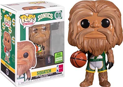 Pop! NBA Basketball 01 Squatch Seattle SuperSonics Mascot - Balón de baloncesto (2021 Spring Convention Exclusive)