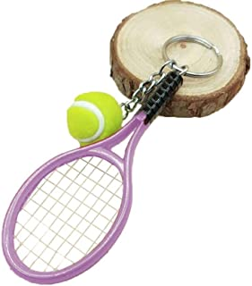 Niome Tennis Racket Ball Shape Keychain Key Rings Sport Style for Sports Lovers Women Men