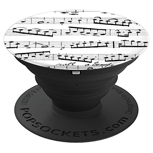 Sheet Music Notes - Musical Notation - black and white music PopSockets Grip and Stand for Phones and Tablets