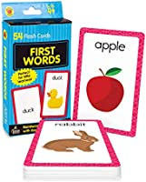 Carson Dellosa First Words Flash Cards—Double-Sided, Common Words With Illustrations, Basic Animals, Food, Objects,...