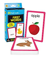 Carson Dellosa - First Words Flash Cards - 54 Cards for Phonics, Sight Words, Letter Recognition, Early Development for Preschool Toddler Ages 4+ (Brighter Child Flash Cards)