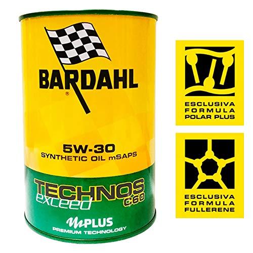 Bardahl Olio Motore TECHNOS C60 Exceed 5W-30 Sintetico 1 LITRO - 322040
