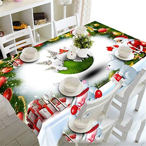 ZXIAQI Mantel, Mantel de Navidad Cocina Mesa de Comedor Decoracion de la Mesa Rectangular del Partido del hogar Cubiertas Adornos de Navidad (Color : A, Size : 335cm*228cm)