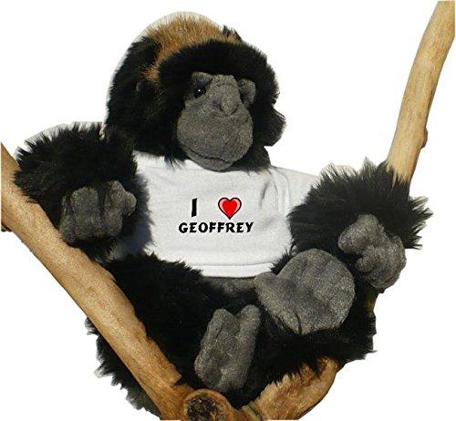 Gorila de peluche (juguete) con Amo Geoffrey en la camiseta
