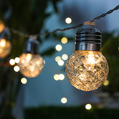 MIAROZ LED Lichterkette,20 LEDs Mehrfarbig Lichterkette 8 Modi, Merk Funktion, Wasserdichte IP65, Kugel Lichterkette für Innen/Außen Dekoration [Energieklasse A+]