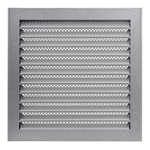 300 x 300mm Verzinkt Wetterschutz Lamellen Lüftungsgitter Zuluft Abluft Garage Küche Bad Wand Lufthaube