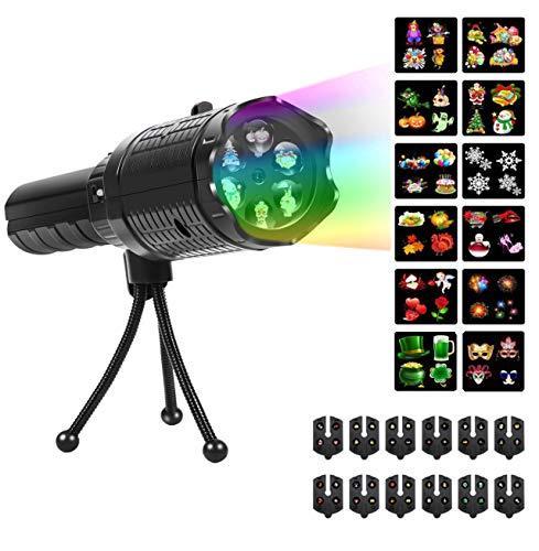 mimoday Handheld Projektor Urlaub Projektor Licht 12 Dias Dekorative Lichter