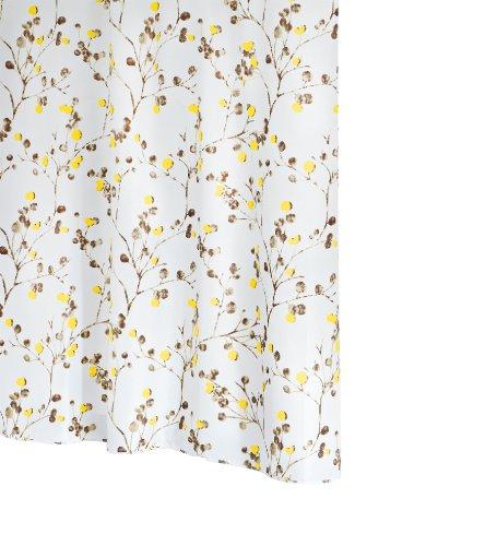 RIDDER 46378S-350 Duschvorhang Textil ca. 180 x 200 cm, Berry inklusive Ringe