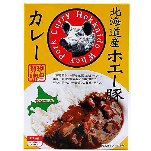 北海道 レトルト カレー 北海道産 ホエー豚 使用 カレー レトルトカレー 中辛 ポークカレー レトルト