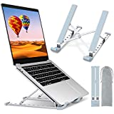 "STOON Laptop Stand, Laptop Holder Riser Computer Stand, Aluminum 9-Angles Adjustable Ventilated Cooling Notebook Stand Mount Compatible with MacBook Air Pro, Lenovo, Dell, More 10-15.6"" Laptops"