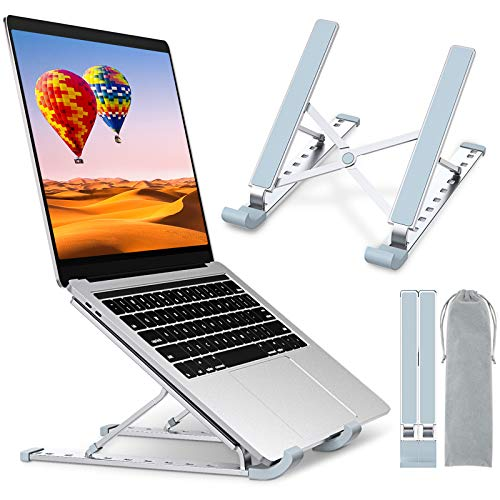 """STOON Laptop Stand, Laptop Holder Riser Computer Stand, Aluminum 9-Angles Adjustable Ventilated Cooling Notebook Stand Mount Compatible with MacBook Air Pro, Lenovo, Dell, More 10-15.6"""" Laptops"""