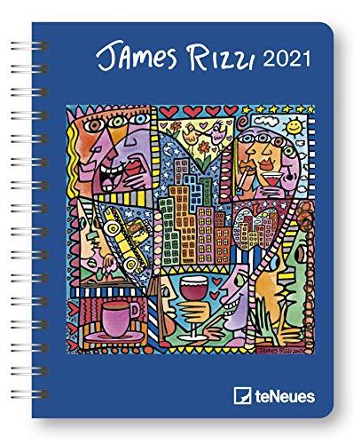 James Rizzi 2021 - Diary - Buchkalender - Taschenkalender - Kunstkalender - 16,5x21,6: Diary