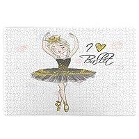 1000ピースパズル、彼女の頭にそばかすと王冠を持つ手描きの美しい素敵な小さなバレリーナの女の子、大人と子供のための絵パズルゲーム家族の結婚式の卒業ギフト